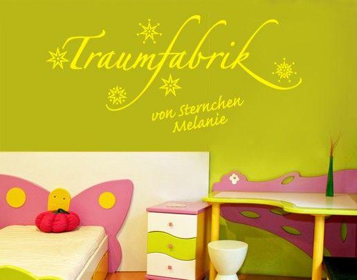 Wandtattoo Sprüche - Wandtattoo Namen No.SF538 Wunschtext Traumfabrik