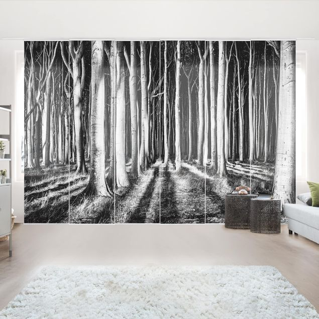 Schiebegardinen Set - Geisterwald - Flächenvorhänge