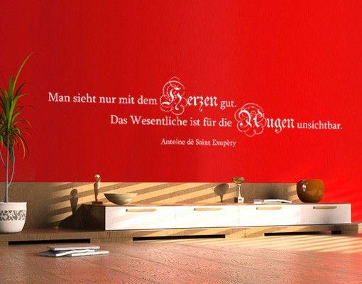 Wandtattoo Zitate - Wandzitate No.420 Auge & Herz