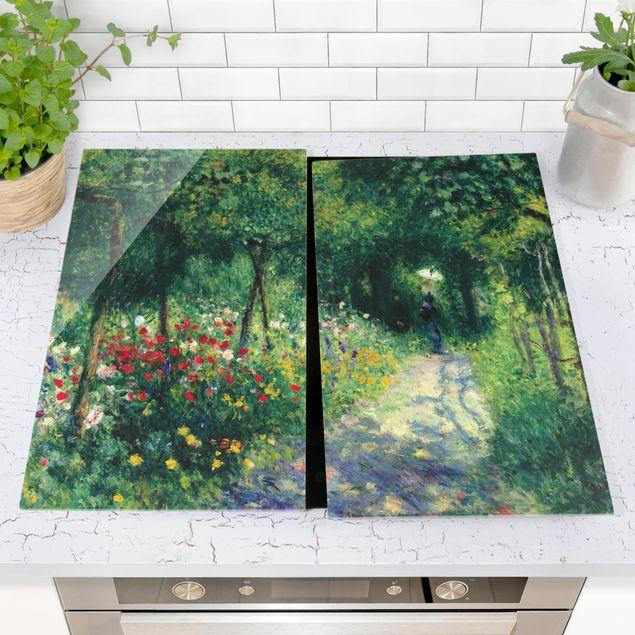 Herdabdeckplatte Glas - Auguste Renoir - Frauen im Garten - 52x80cm