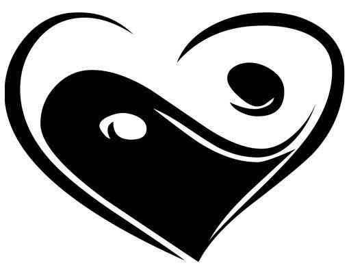 Wandtattoo No.KP135 yin love yan