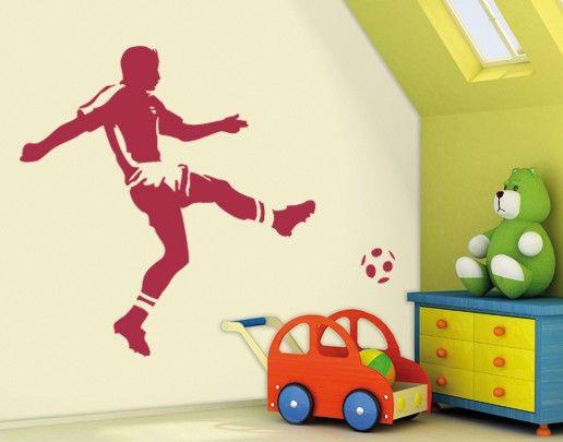 Wandtattoo Fußball - Kinderzimmer No.UL295 Torschuss