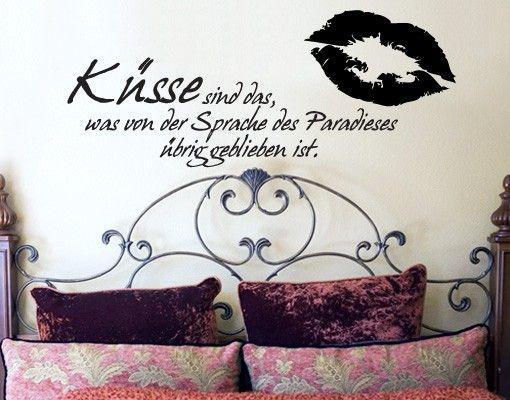 Wandtattoo Sprüche - Wandsprüche No.409 Küsse