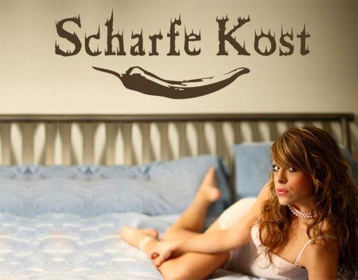 Wandtattoo Sprüche - Wandworte No.KP59 Scharfe Kost