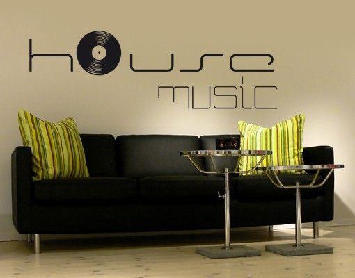 Wandtattoo Sprüche - Wandworte No.KP60 house music