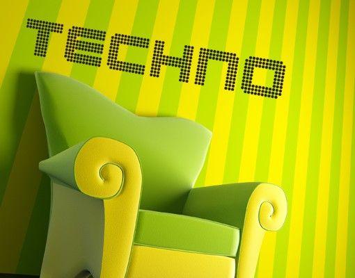 Wandtattoo Sprüche - Wandworte No.TM63 Techno