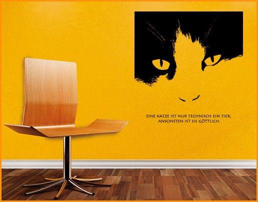 Wandtattoo Sprüche - Wandsprüche No.SF229 göttliche Katze
