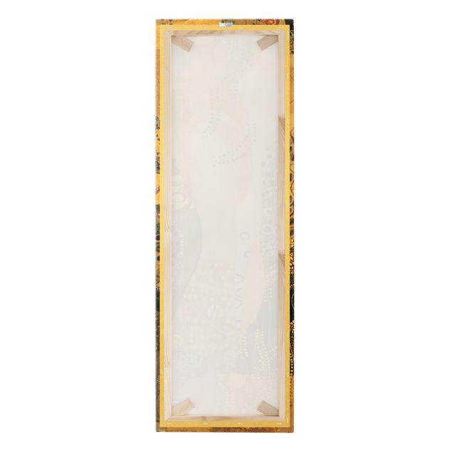 Leinwandbild Gold - Gustav Klimt - Wasserschlangen I - Hochformat 1:3