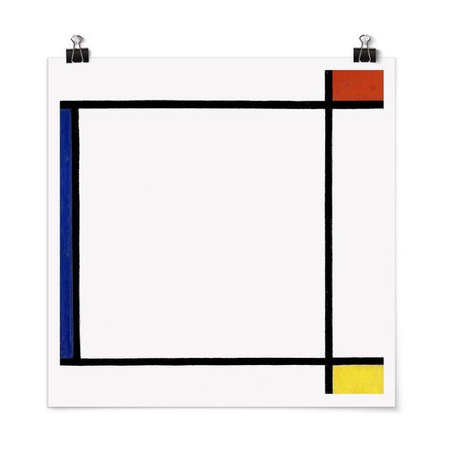 Poster - Piet Mondrian - Komposition III - Quadrat 1:1
