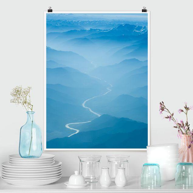 Poster - Blick über den Himalaya - Hochformat 3:4