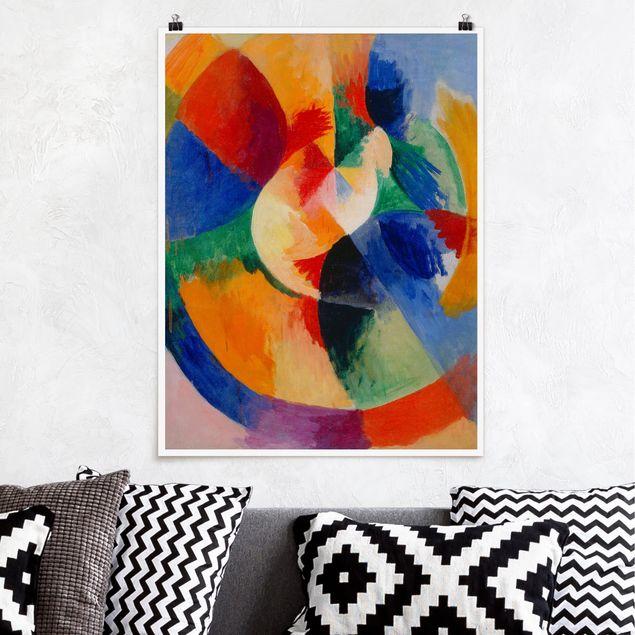 Poster - Robert Delaunay - Kreisformen, Sonne - Hochformat 3:4