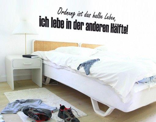 Wandtattoo Sprüche - Wandsprüche No.KP165 Ordnung