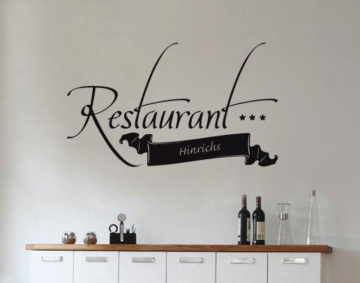 Wandtattoo Sprüche - Wandtattoo Namen No.SF655 Wunschtext Restaurant