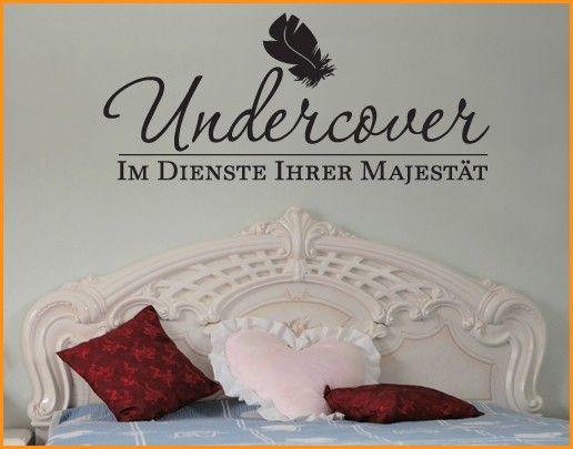 Wandtattoo Sprüche - Wandsprüche No.UL113 Undercover
