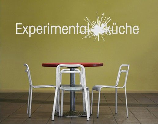 Wandtattoo Sprüche - Wandworte No.UL167 Experimentalküche