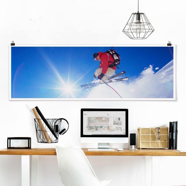 Poster - Skisprung - Panorama Querformat