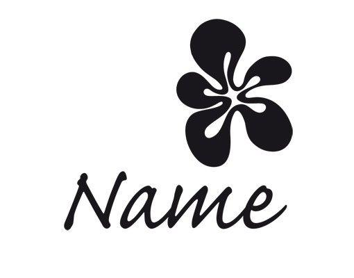 Wandtattoo Sprüche - Wandtattoo Namen No.UL358 Wunschtext Name Mit Blüte