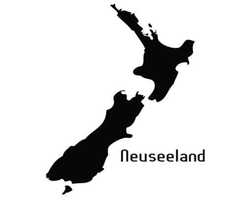Wandtattoo No.TM77 Neuseeland