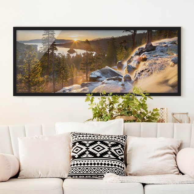 Bild mit Rahmen - Eagle Falls - Panorama Querformat