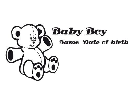 Wandtattoo Sprüche - Wandtattoo Namen No.491 Wunschtext Baby Boy