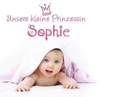 Wandtattoo Sprüche - Wandtattoo Namen No.494 Wunschtext Unsere kleine Prinzessin