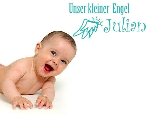 Wandtattoo Sprüche - Wandtattoo Namen No.495 Wunschtext Unser kleiner Engel