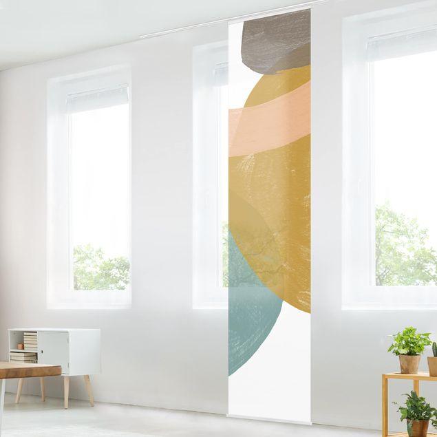 Schiebegardinen Set - Pailletten im Detail I - Flächenvorhang