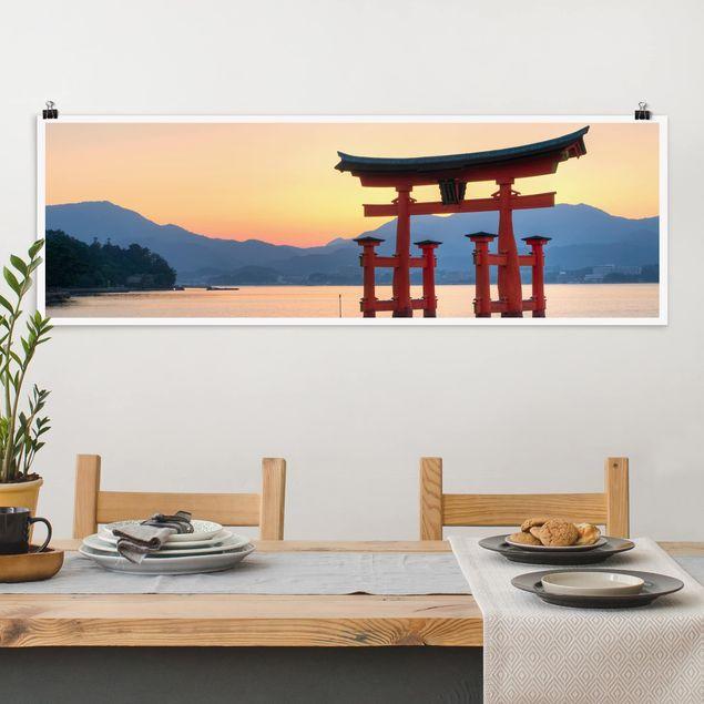 Poster - Torii am Itsukushima - Panorama Querformat