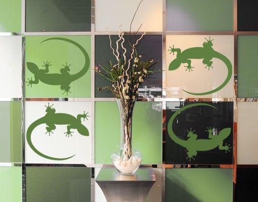 Wandtattoo Gecko No.725 Gecko Set