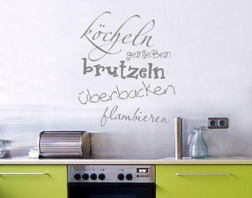 Wandtattoo Sprüche - Wandworte No.UL367 Köcheln&more