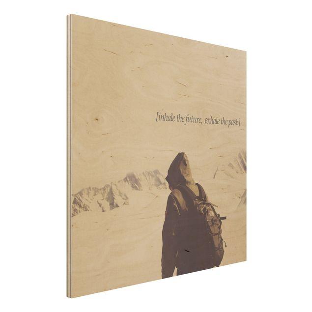 Holzbild - Lyrische Landschaften - Atmen - Quadrat 1:1