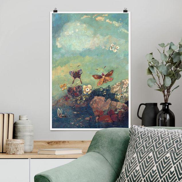 Poster - Odilon Redon - Schmetterlinge - Hochformat 3:2