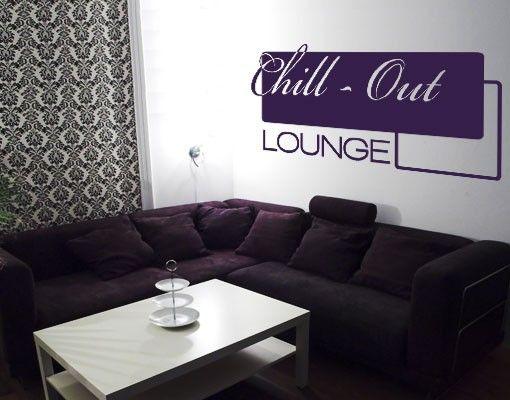 Wandtattoo Sprüche - Wandworte No.AS4 Chill-Out Lounge