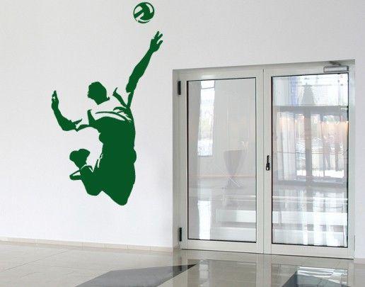 Wandtattoo No.UL412 Volleyballer