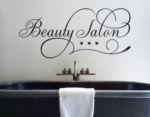 Wandtattoo Sprüche - Wandworte No.SF671 Beauty Salon