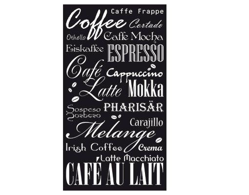 Wandtattoo Sprüche - Wandworte Tapete No.737 Coffee & more II