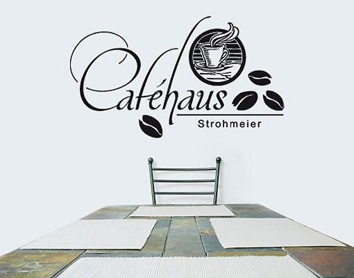 Wandtattoo Sprüche - Wandtattoo Namen No.SF678 Wunschtext Caféhaus