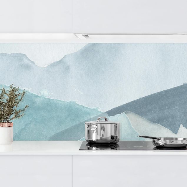 Küchenrückwand - Wogen in Blau III