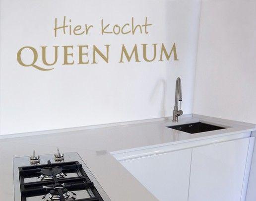 Wandtattoo Sprüche - Wandsprüche No.SF705 Queen Mum
