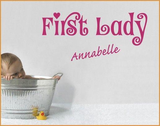 Wandtattoo Sprüche - Wandtattoo Namen No.SF716 Wunschtext First Lady