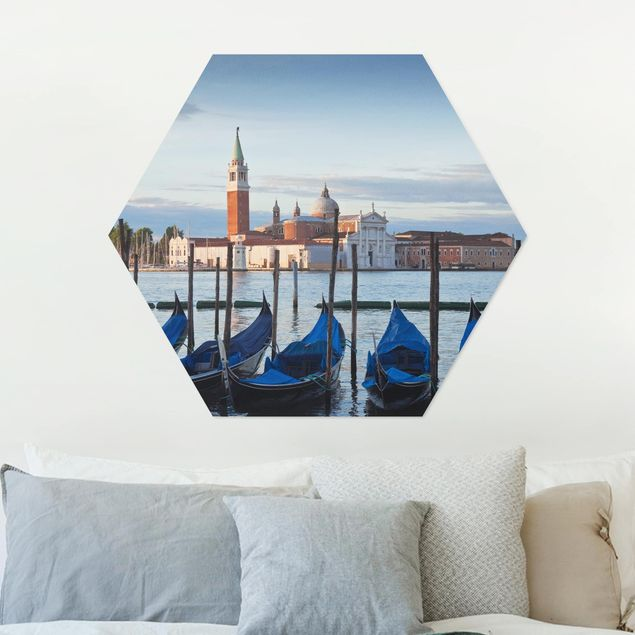 Hexagon Bild Alu-Dibond - San Giorgio in Venedig