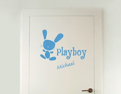 Wandtattoo Sprüche - Wandtattoo Namen No.SF743 Wunschtext Playboy