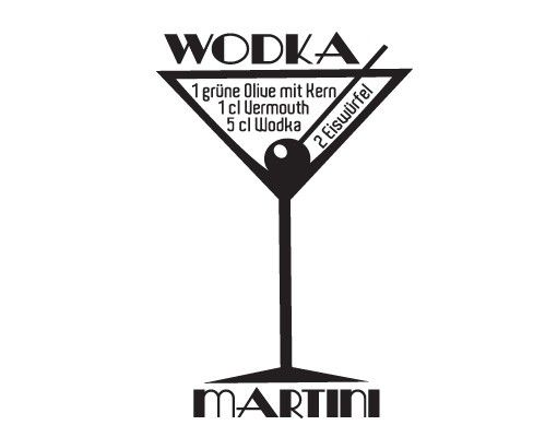Wandtattoo No.JO35 Wodka Martini