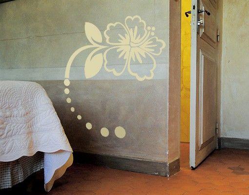 Wandtattoo Hibiskus No.CG49 Hibiskus Blüte