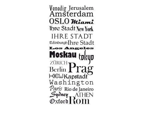 Wandtattoo Sprüche - Wandtattoo Namen Tapete Wunschtext No.CG54 Metropolen