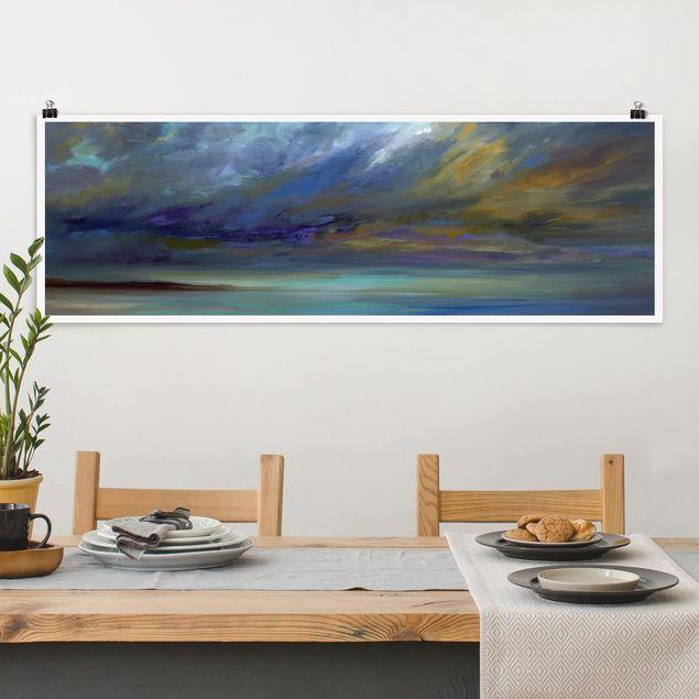 Poster - Himmel über Küste - Panorama Querformat