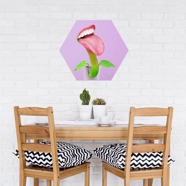 Hexagon Bild Forex - Jonas Loose - Fleischfressende Pflanze mit Mund