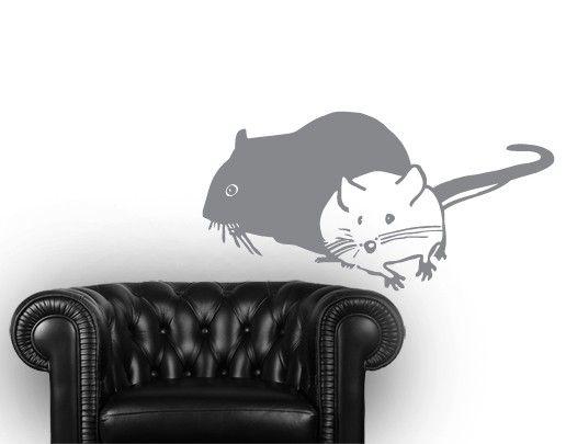 Wandtattoo No.UL462 Zwei Mäuse