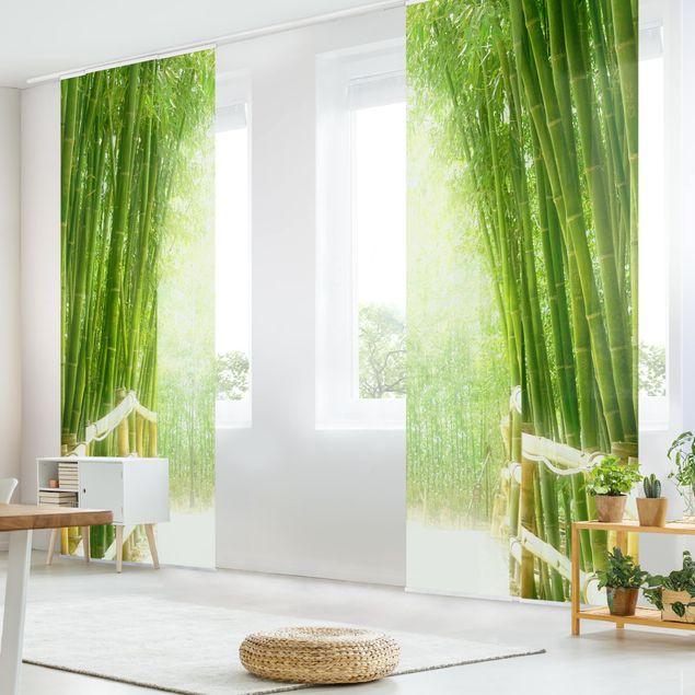 Schiebegardinen Set - Bamboo Way - Flächenvorhänge