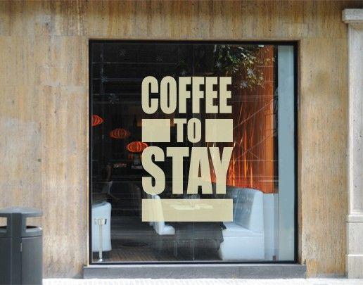 Fensterfolie - Fenstertattoo No.UL480 Coffee to stay - Milchglasfolie